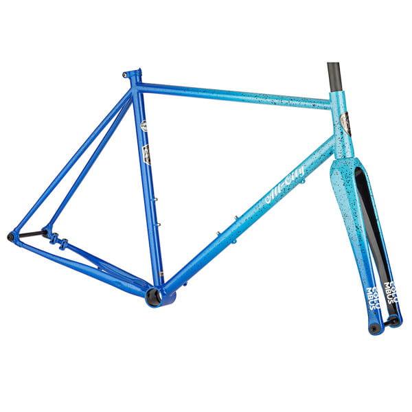 Nature Cross Single Speed Rahmenset - Blau