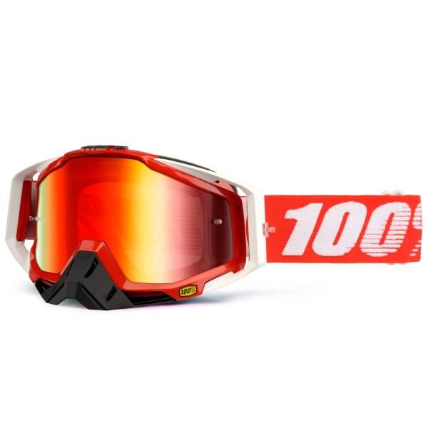 Racecraft Premium MX Goggle - Fire Red