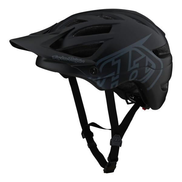 A1 - Helm - Drone Black - Schwarz/Grau