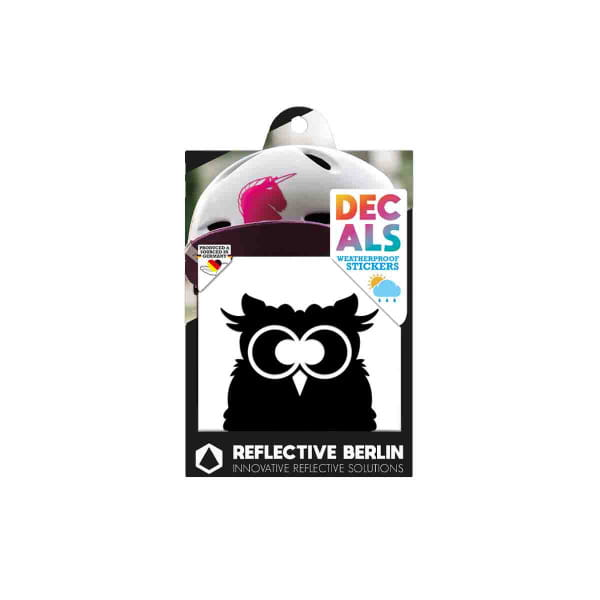 Reflective DECAL - Eule - schwarz