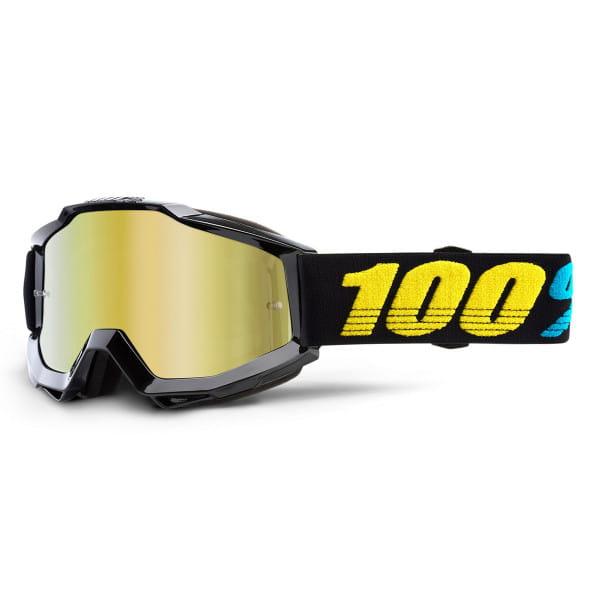 Accuri Goggle Anti Fog Mirror Lens -Schwarz/Gelb