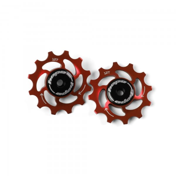 Jockey Wheels Schaltrollen - 12Z - rot
