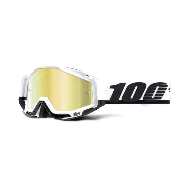 Racecraft Goggle Anti Fog Mirror Lens - Schwarz/Weiß