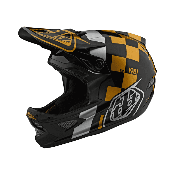 D3 Helmet Fiberlite Fullface-Helm - Raceshop Schwarz/Gold