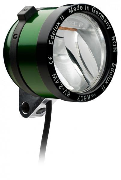 Edelux II LED-Scheinwerfer für Nabendynamos- grün eloxiert