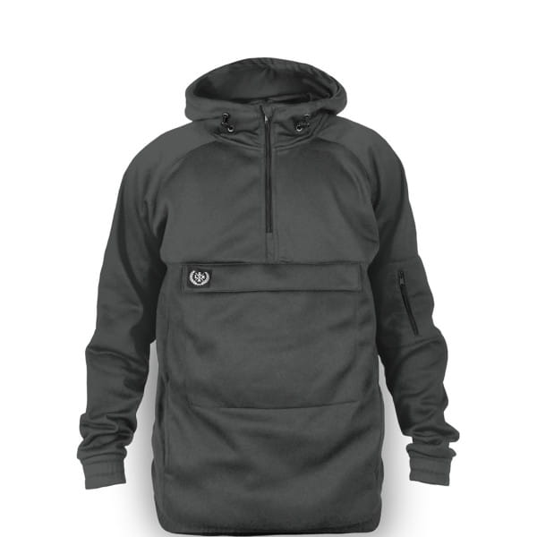 Fleece Anorak - Grau