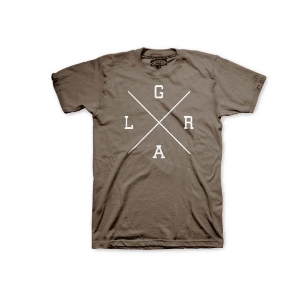 Collegiate T-Shirt X Logo - Brown