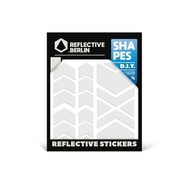 Reflective SHAPES - Chevron - weiß