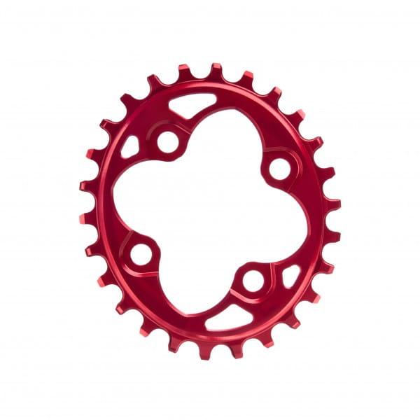 Kettenblatt - Oval - 64 BCD 4-loch - rot