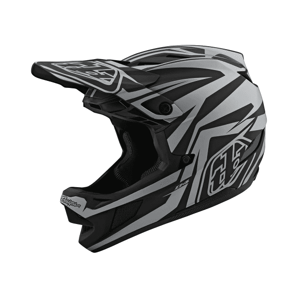 D4 Helmet (Mips) Composite Fullface-Helm - SLASH Schwarz/Silber