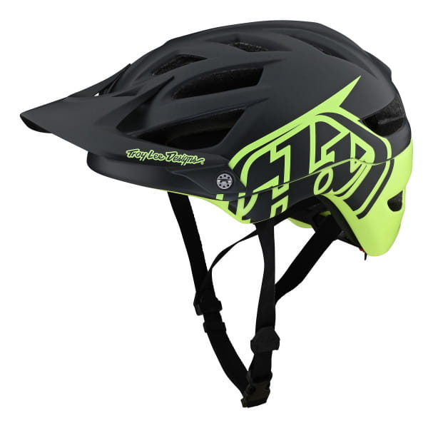 A1 MIPS - Helm - Classic Gray/Green - Schwarz/Grün