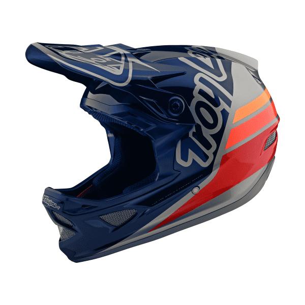 D3 Helmet Fiberlite Fullface-Helm - SILHOUTTE Silber/Blau