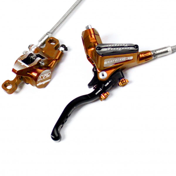 Tech 3 X2 Scheibenbremse Stahlflexleitung - orange