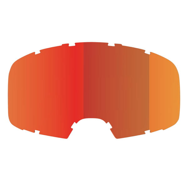 Replacement glass mirrored - red / orange