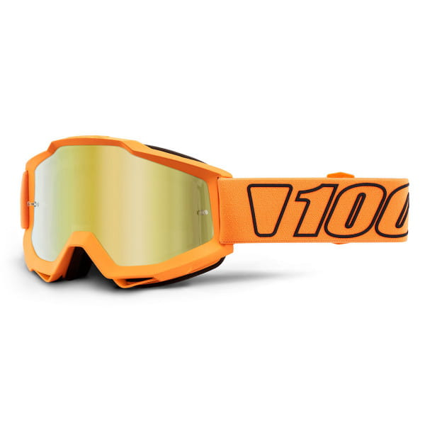 Accuri Goggle Anti Fog Mirror Lens -Orange/Schwarz