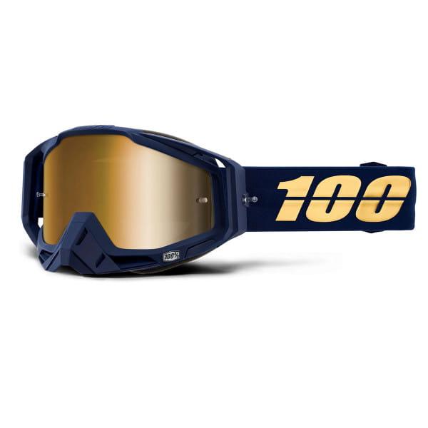 Racecraft Goggles Anti Fog Mirror Lens - Blau/Gold