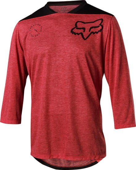 Indicator 3/4  Jersey - Asym Bright Red