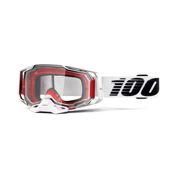 Armega Goggle Anti Fog - Weiß/Schwarz - Klar