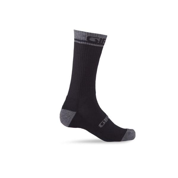 Merino Wolle Socken - Schwarz
