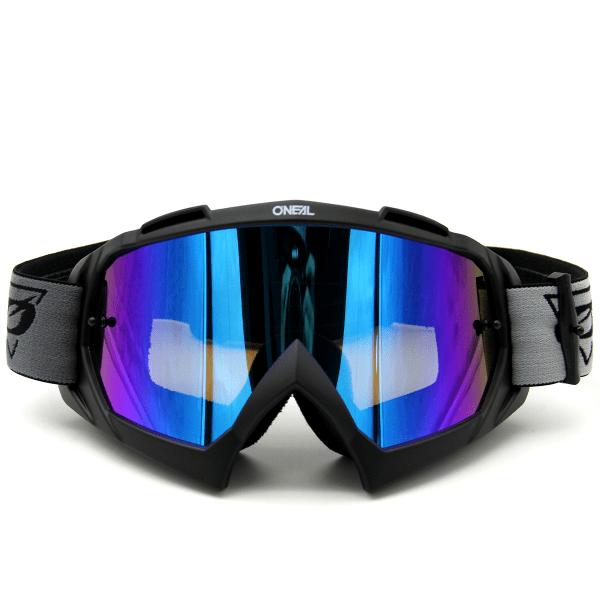B-10 Speedmetal - Radium Blau - Goggle - Schwarz/Grau