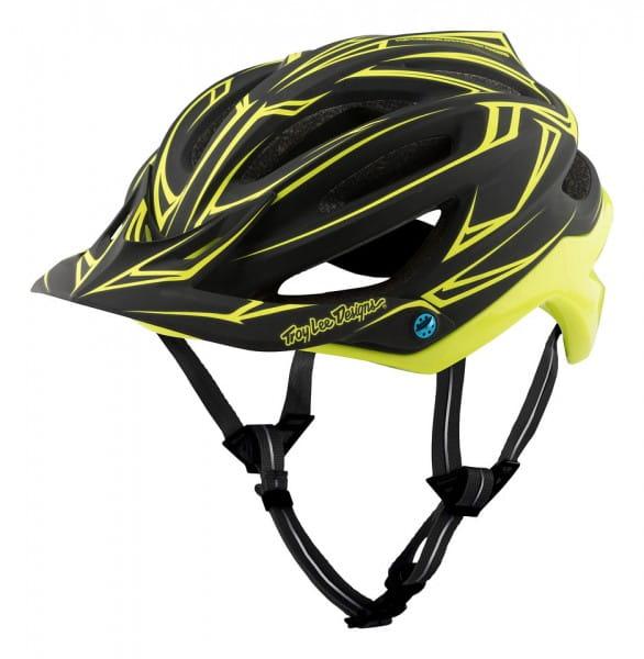 A2 MIPS Helm Pinstripe Black/Yellow