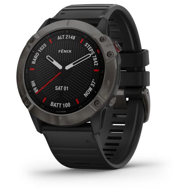 FENIX 6X Sapphire - GPS-Armbanduhr - Schwarz/Grau