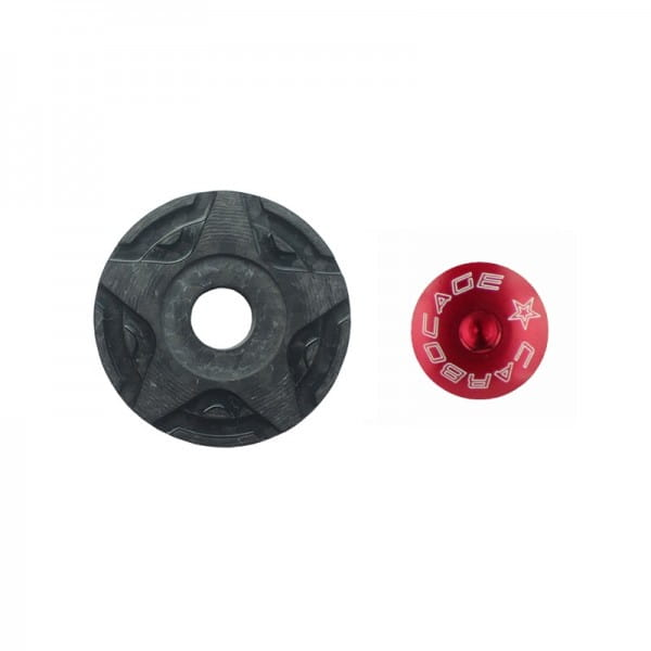 Top Cap Carbon 3D Aheadkappe - rot