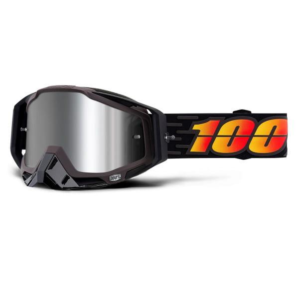Racecraft Plus Goggle injected mirror lens - Schwarz/Orange