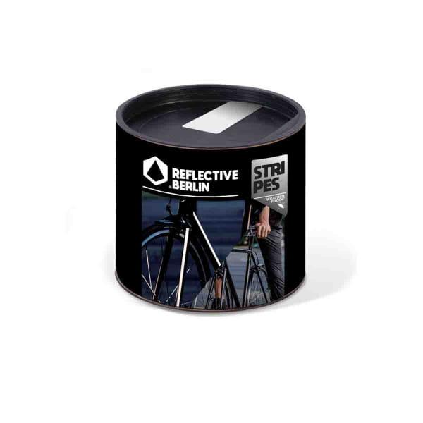 Reflective STRIPES - Fahrrad-Komplettset(ca. 10m) - weiß