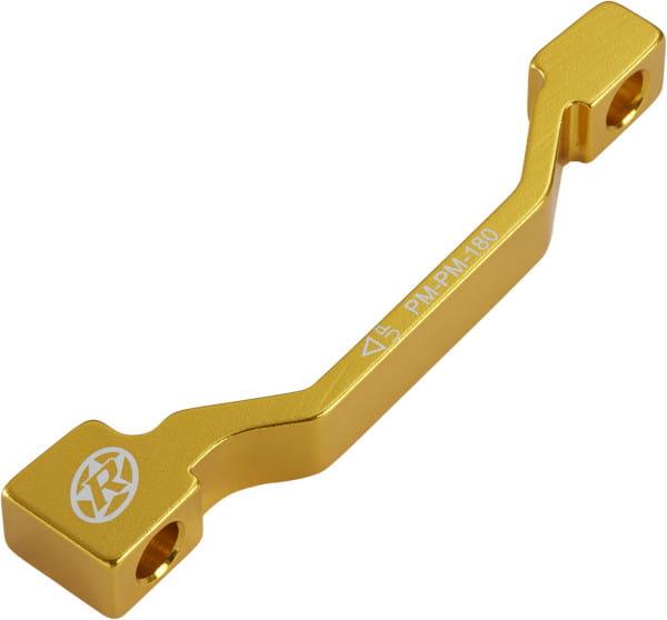 Bremsscheibenadapter PM-PM 180 mm - gold