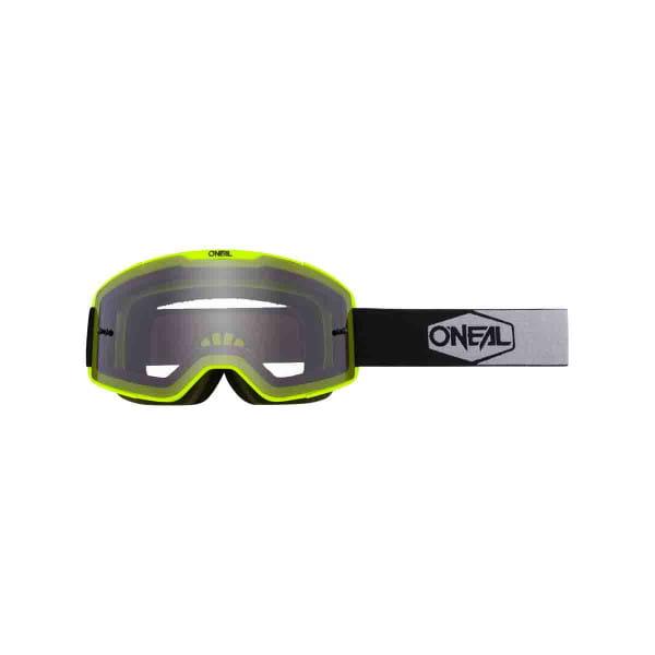 B-20 Goggles Plain Grau - Neongelb/Schwarz