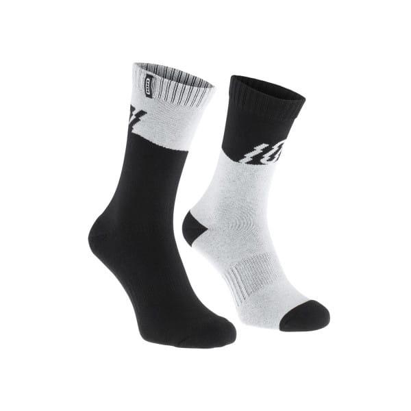 Scrub Socken - Schwarz/Weiss