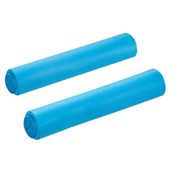 MTB silicone handles Ø34mm - Neon Blue