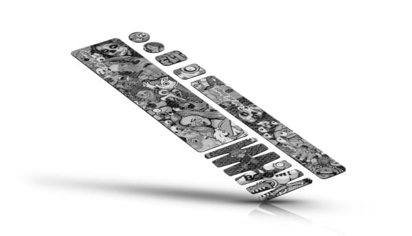 Rahmenschutzfolie - Stickerbomb ultra black