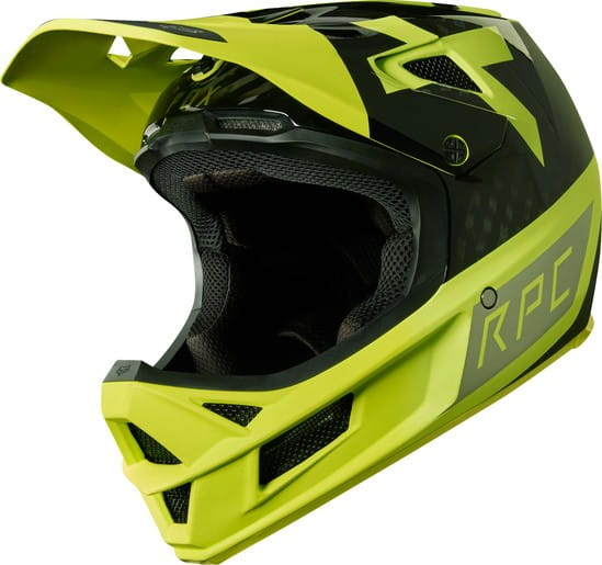 Rampage Pro Carbon Helm – Yellow/Black