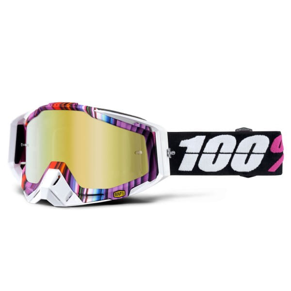 Racecraft Premium MX Goggle - Glitch Mirror Lens