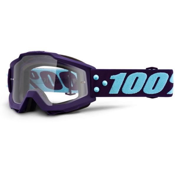 Accuri Goggles Anti Fog Clear Lens - Lila/Hellblau
