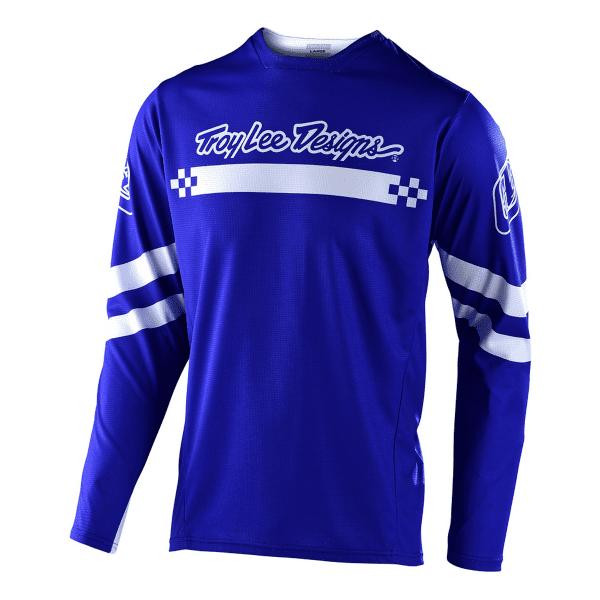 Sprint Jersey Factory Trikot Langarm - Blau/Weiß
