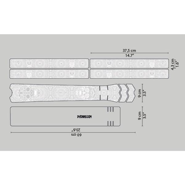 Rahmenschutz Kit - Día de Muertos - White Gloss