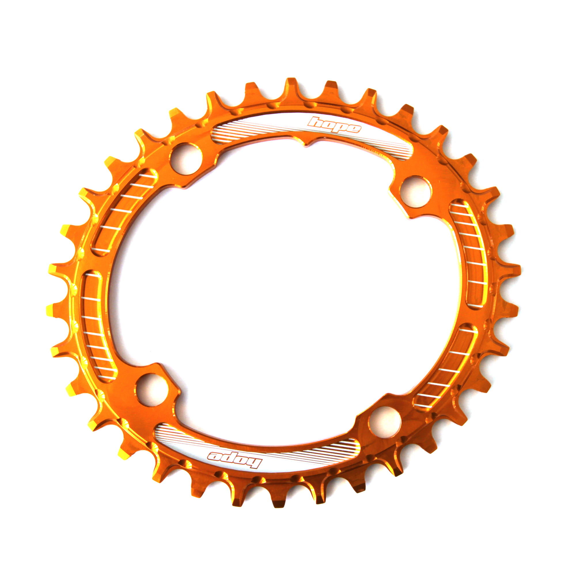 Hope Technology Oval Spiderless Retainer Bike Chain Ring Orange 32 Tooth
