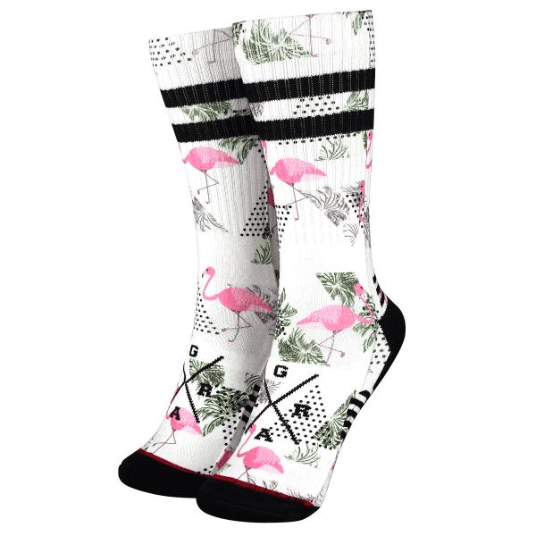 "Socken ""Flamingos"" - Weiß/Pink"