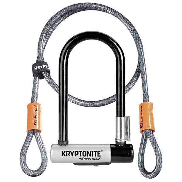 KryptoLok Min-7 + KFlex 120cm - Grau/Schwarz
