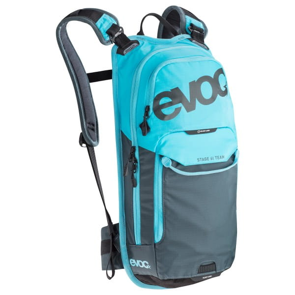Stage Team Rucksack - 6L+2L Bladder - neon blue/slate