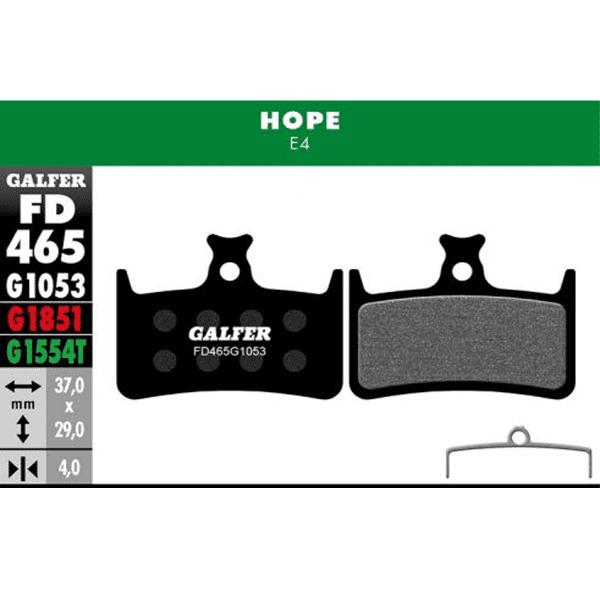 Standard brake pad - HOPE E4 - black