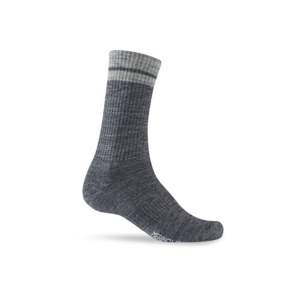 Merino Wolle Socke - Grau