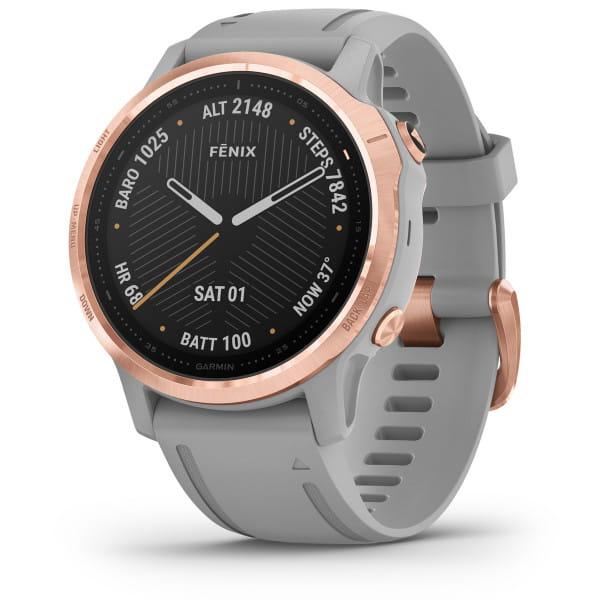 FENIX 6S Sapphire - GPS-Armbanduhr - Grau/Rosegold