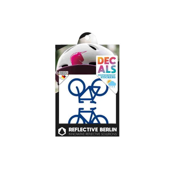 Reflective DECAL - Bicycles - blau