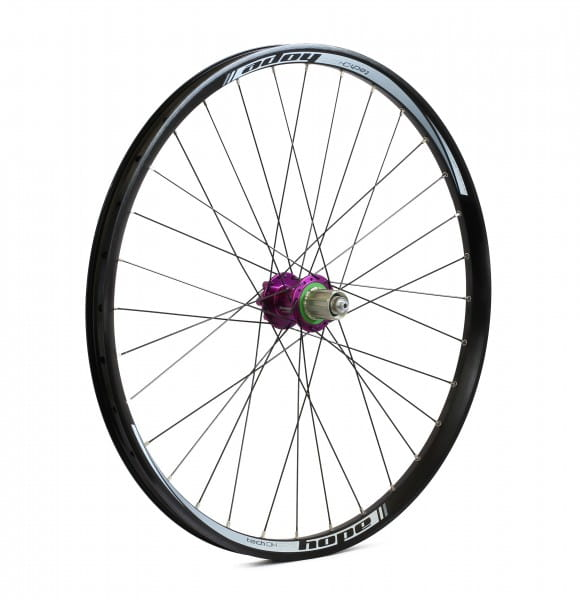 Tech DH-Pro 4 Hinterrad - purple