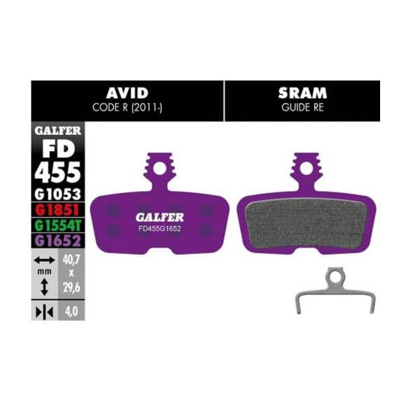 E-Bike Bremsbelag G1652 Avid Code - Violett