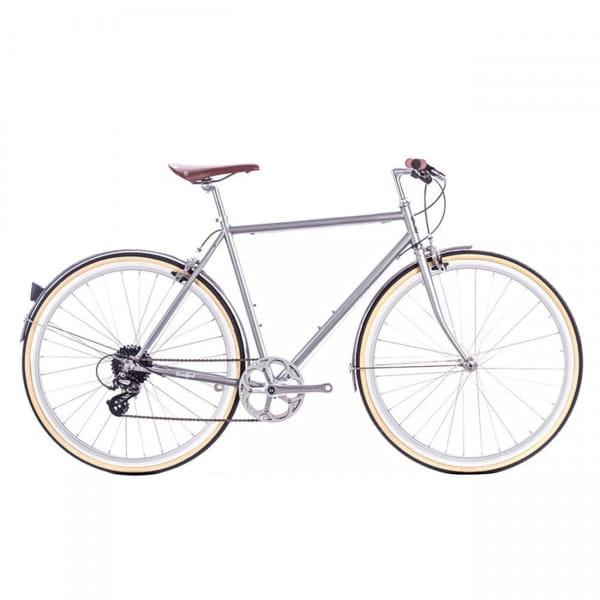 Odyssey 8SP City Bike - brandford silver